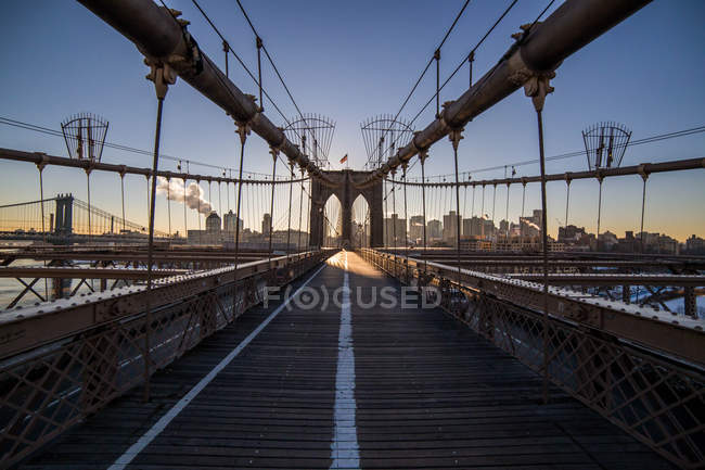 Brooklyn bridge, New York, — Stock Photo