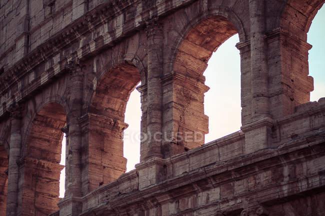 Coliseum outside facade ruins — Stock Photo