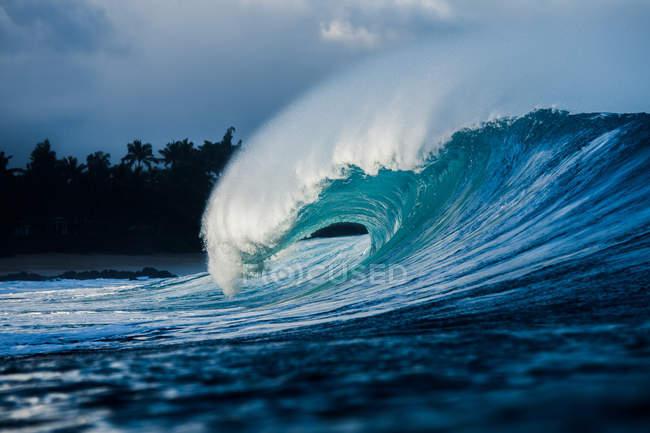 Welle am Riff brechen — Stockfoto