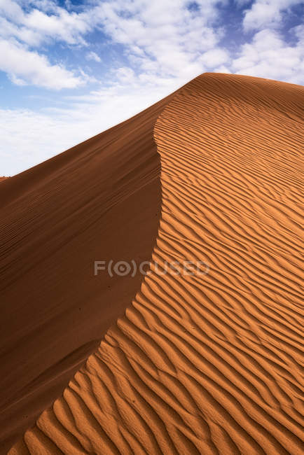 Sand rippled dune at sunset — Stock Photo