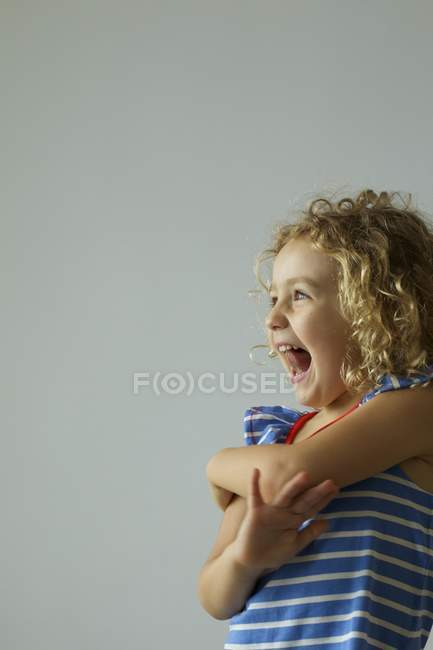 Happy girl laughing — Stock Photo