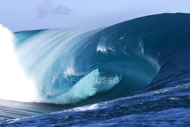 Teauhpoo Wave, Tahiti, — Stock Photo