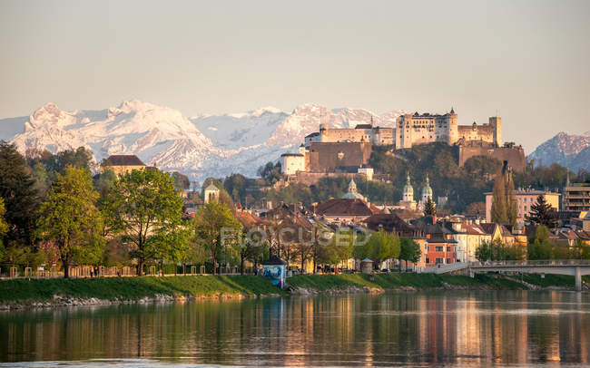Hohensalsburg Castle and old town — Stock Photo