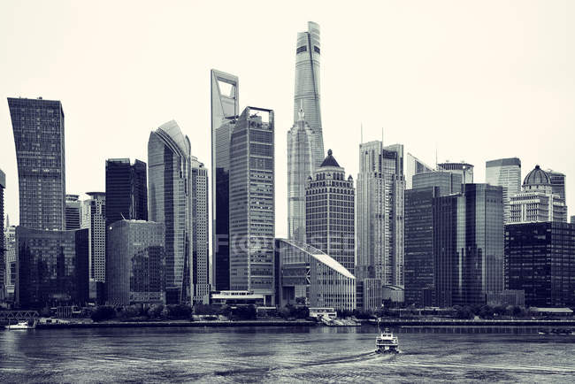Horizonte de Pudong, Shanghai — Fotografia de Stock