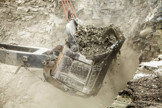 Bucket digger with  coal — Stock Photo
