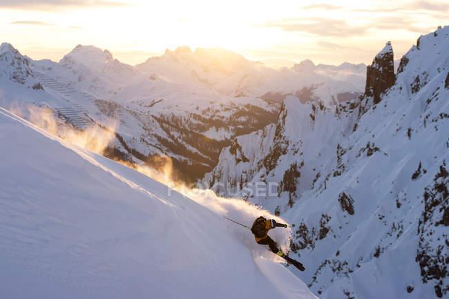 Mann Powder Ski Arlberg Region — Stockfoto