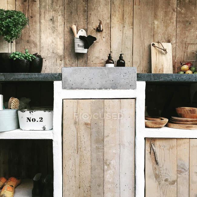 Cuisine extérieure moderne — Photo de stock