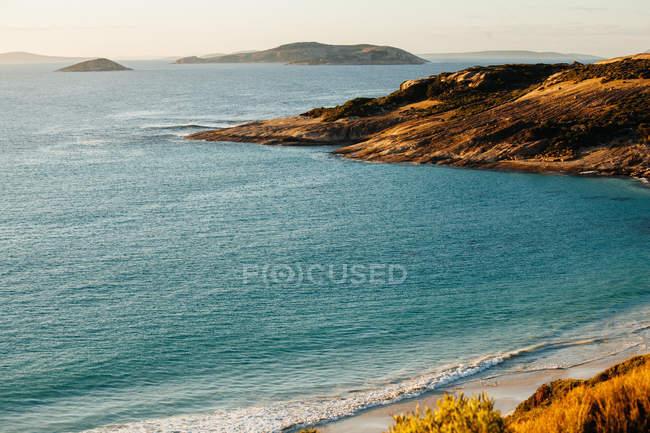 Bay and coastal landscape — Stock Photo