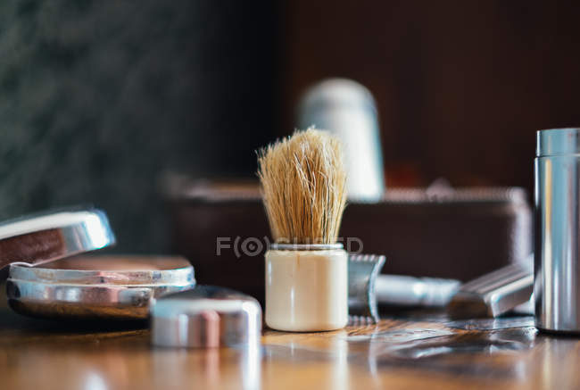 Traditional shaving set — Stock Photo