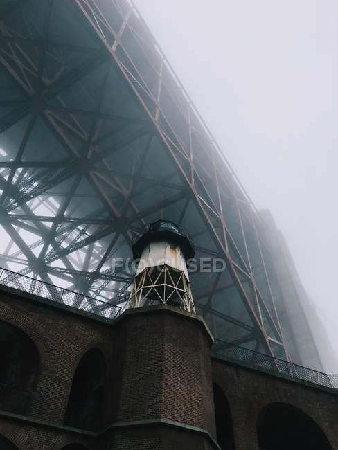 Fort Point nella nebbia — Foto stock