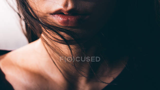 Close-up of womans mouth — Stock Photo