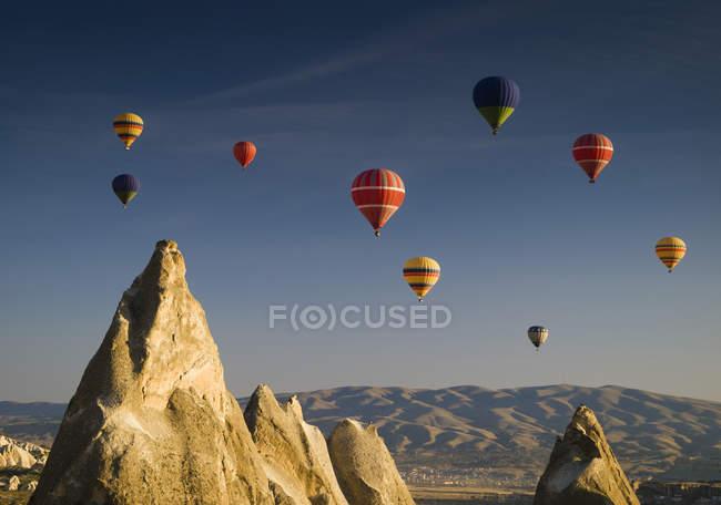 Повітряні кулі, польоти — стокове фото