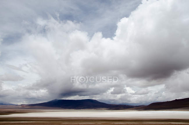 Storm clouds over the Atacama desert, Chile — Stock Photo