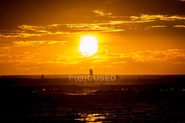 Scenic view of beautiful sunset at Gold Coast, Queensland, Australia — Stock Photo