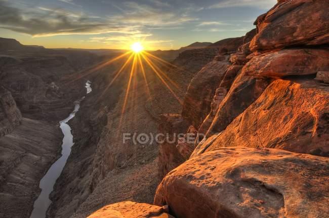 Scenic View Of Toroweap at sunset, USA, Arizona, Grand Canyon National Park — Stock Photo