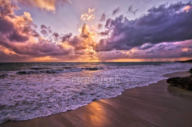 Vista panorâmica de Brighton Beach ao pôr do sol, Perth, Austrália — Fotografia de Stock