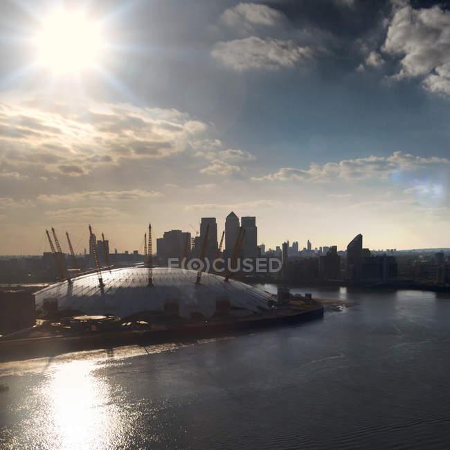 Vista panorámica del estadio O2 Arena, Londres, Reino Unido - foto de stock