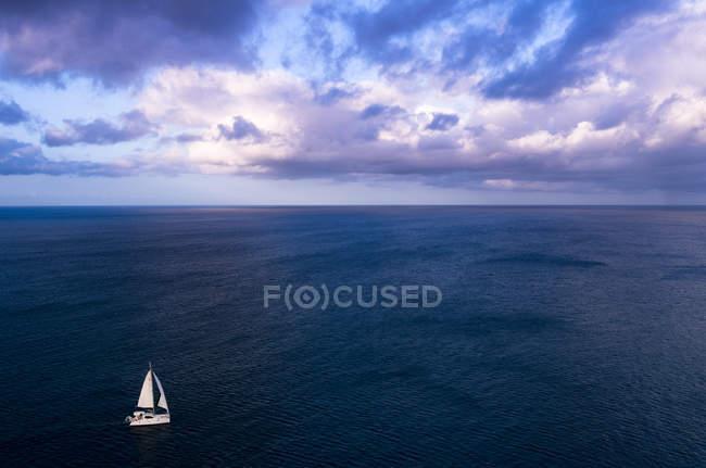 Гарний вид на море з Плаваючий човен, Сент-Люсія, Gros острівець — стокове фото