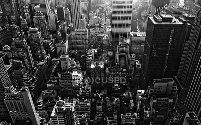 Aerial view of cityscape, USA, New York State, New York City, Manhattan — Stock Photo