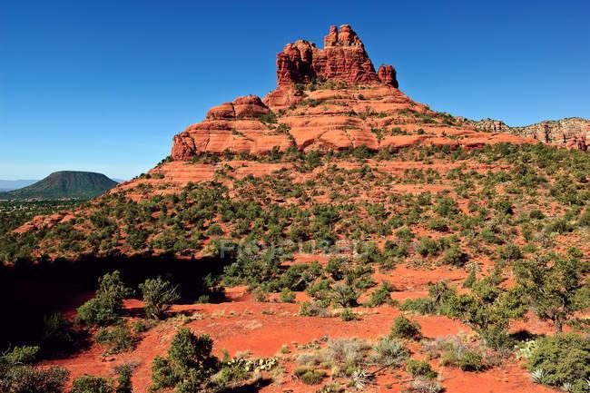 Vista panorâmica de Cathedral Rock à luz do sol, Sedona, Arizona, EUA — Fotografia de Stock