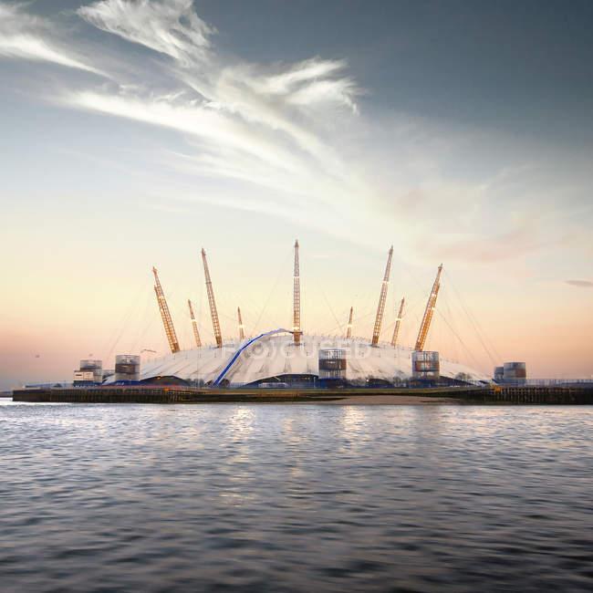 Vista panorámica de Reino Unido, Londres, O2 Arena - foto de stock