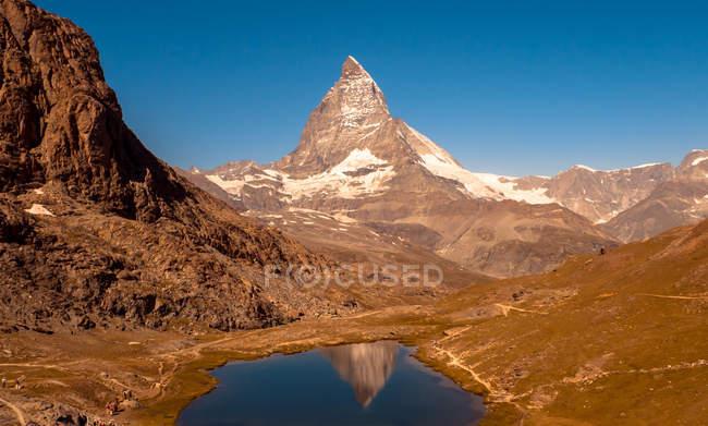Прекрасний вид на гору Маттерхорн, Церматт, Швейцарія — стокове фото
