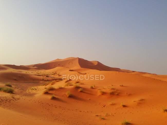 Vista panoramica dell'alba nel deserto, Mezouga, Marocco — Foto stock