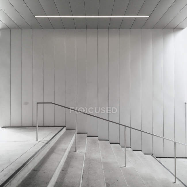 Empty stairs at Oakland Museum of California, USA, California, Oakland — Stock Photo