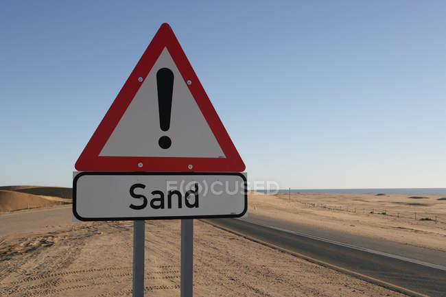 Aviso de areia no deserto, Namíbia — Fotografia de Stock