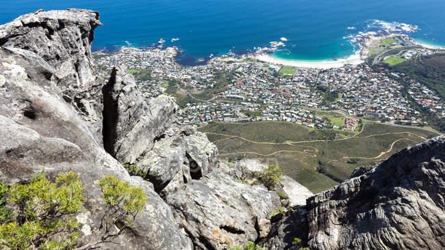 Erhöhten Blick auf Kapstadt, Western Cape, Südafrika — Stockfoto