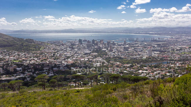 Aerial view of Cape Town, Western Cape, South Africa — Stock Photo