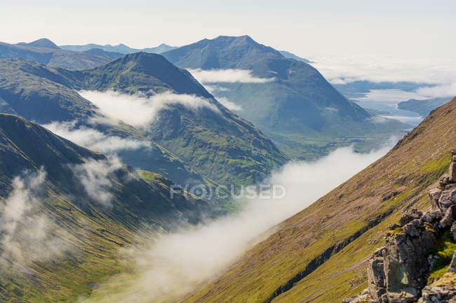 Malerische Aussicht auf Berglandschaft, Hochland, Schottland, Großbritannien — Stockfoto