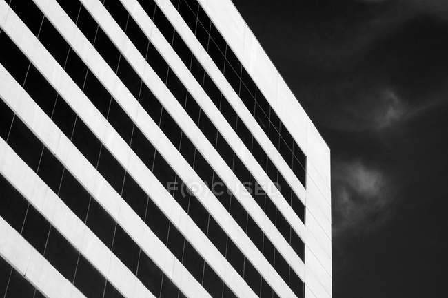 Monochromes Bild des Hotelgebäudes in las vegas — Stockfoto