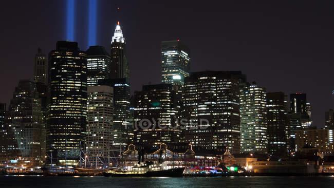 Vista panorámica de Manhattan, Nueva York, América, EE.UU. - foto de stock