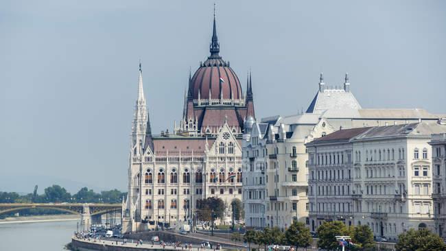 Мальовничий вид на міський пейзаж Будапешт, Угорщина — стокове фото