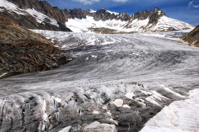 Scenic view of majestic Rhone Glacier, Valais, Switzerland — Stock Photo