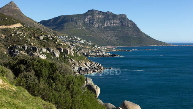 Scenic View of Coastline, Cape Town, Western Cape, South Africa — Stock Photo