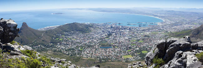 Scenic view of Cape Town Panorama, Western Cape, South Africa — Stock Photo