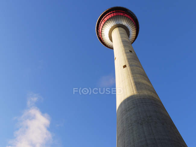 Low angle view of Calgary Tower viewing platform, Calgary, Alberta, Canada — Stock Photo