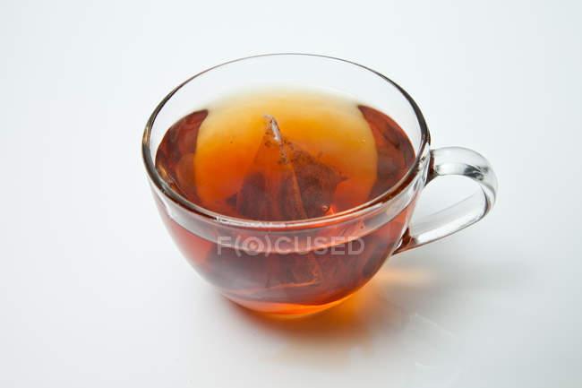 Closeup view of Cup Of Tea with tea bag — Stock Photo