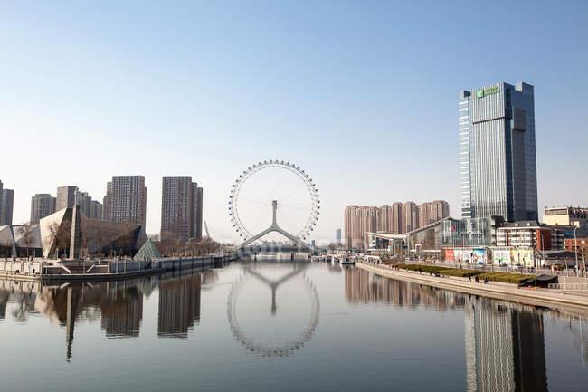 Scenic view to Eye of Tianjin, Tianjin, China — Stock Photo