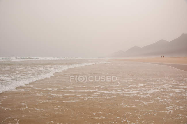 Живописный вид на пляж Cofete, Фуэртевентура, Канарские острова — стоковое фото
