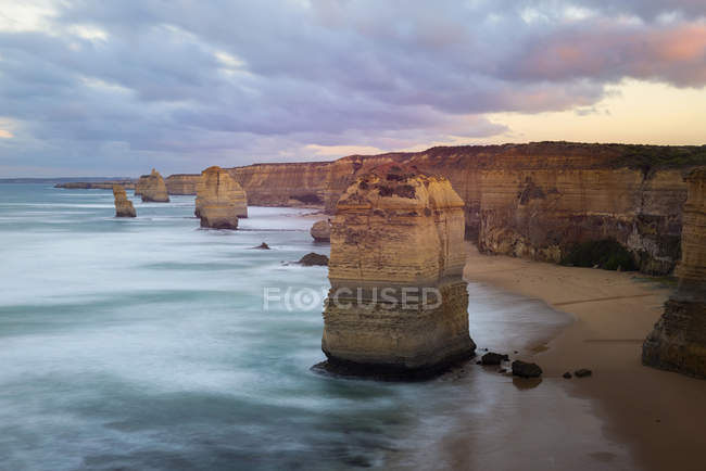 Vista panoramica delle formazioni rocciose vicino a Great Ocean Road, Victoria, Australia — Foto stock