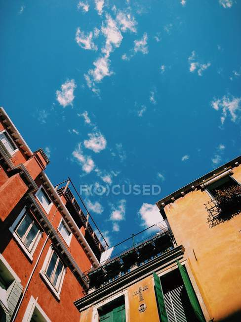 Scenic view of sky over buildings, Venice, Italy — Stock Photo