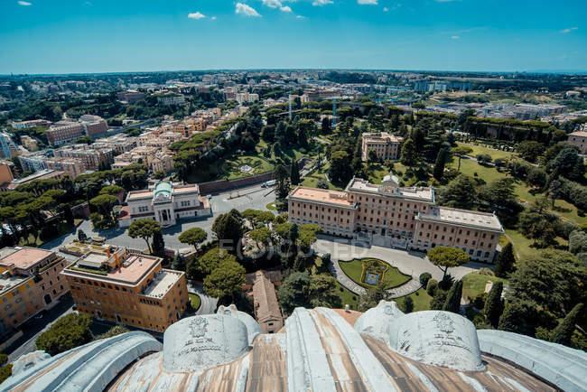 Vue panoramique du paysage urbain, Cité du Vatican, Rome, Italie — Photo de stock