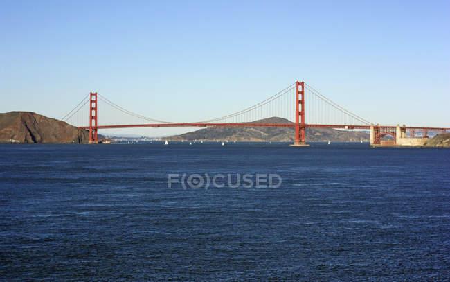 Malerischer Blick auf die berühmte Golden Gate Bridge, San Francisco, Kalifornien, USA — Stockfoto