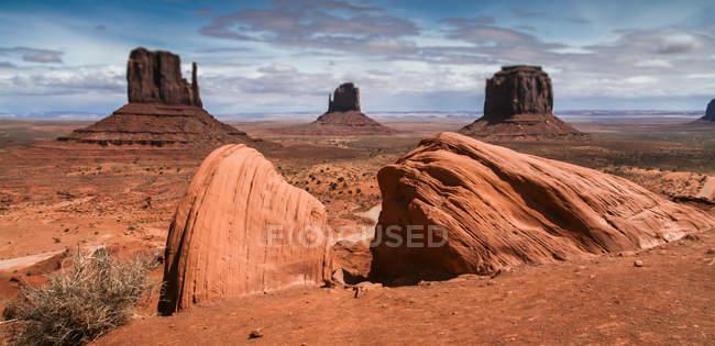 Vista panorámica del monumento valley, Arizona, Estados Unidos, Estados Unidos - foto de stock