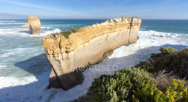 Elevated view of Coastline, Port Campbell, Victoria, Australia — Stock Photo