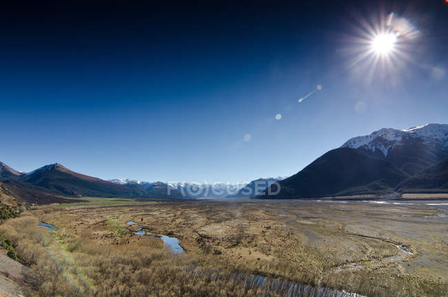 Nuova Zelanda, Canterbury, Passo degli Arturieri, paesaggio maestoso di bella natura — Foto stock