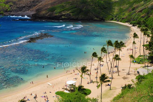 Мальовничий вид на красиві Hanauma Bay, Гаваї — стокове фото